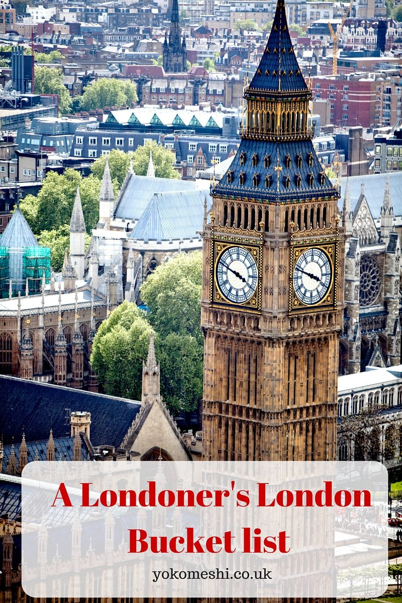 london bucket list pin