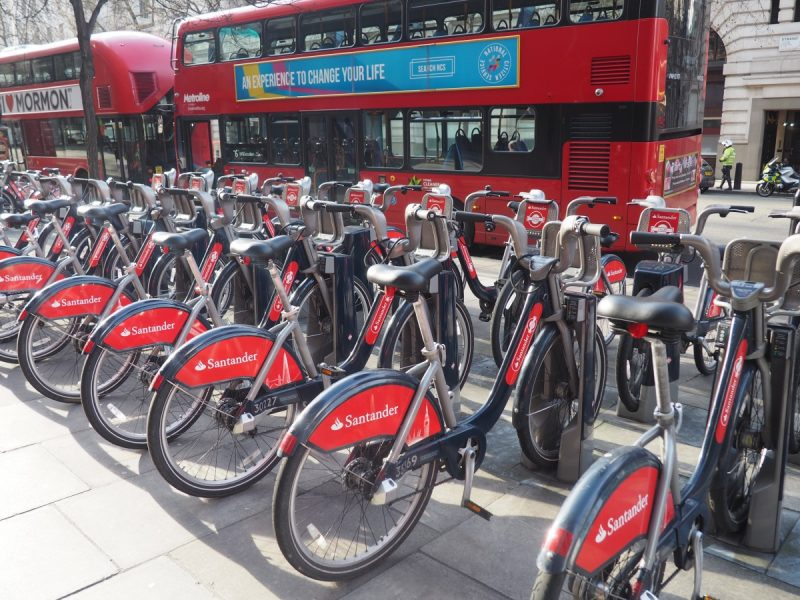 Taking a ride around London on a santander bike is a must for any london bucket list