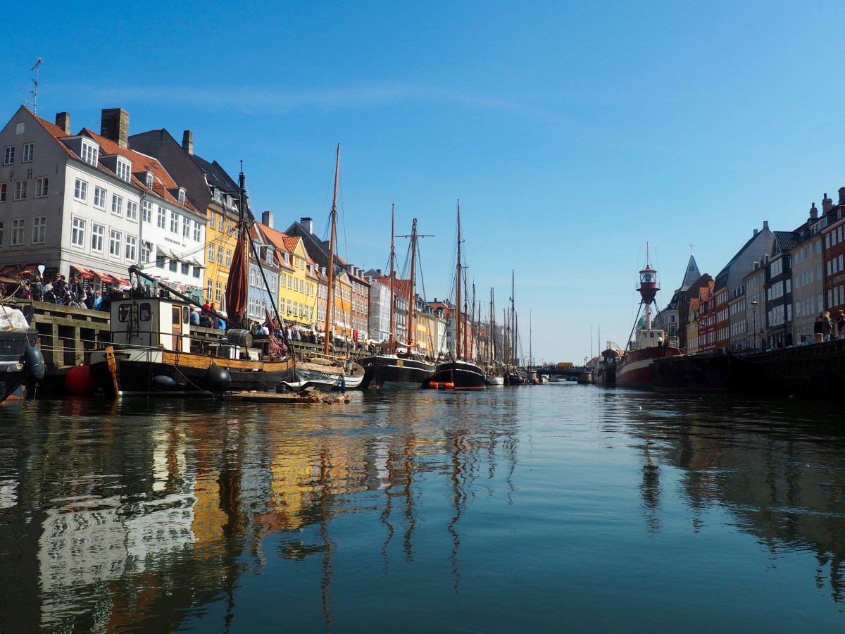 The harbour of Nyhavn in the centre of Copenhagen. A city which has a reputation of being expensive.