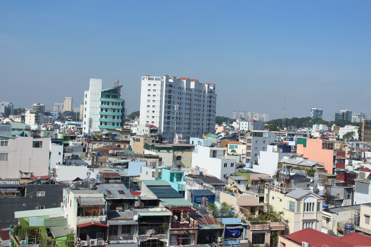 A ariel view of Ho Chi Minh a common city to start your two week vietnam itinerary