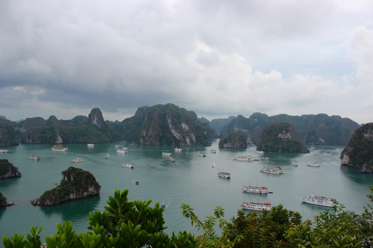 the view over halong bay, Vietnam. A must for any two week trip to vietnam