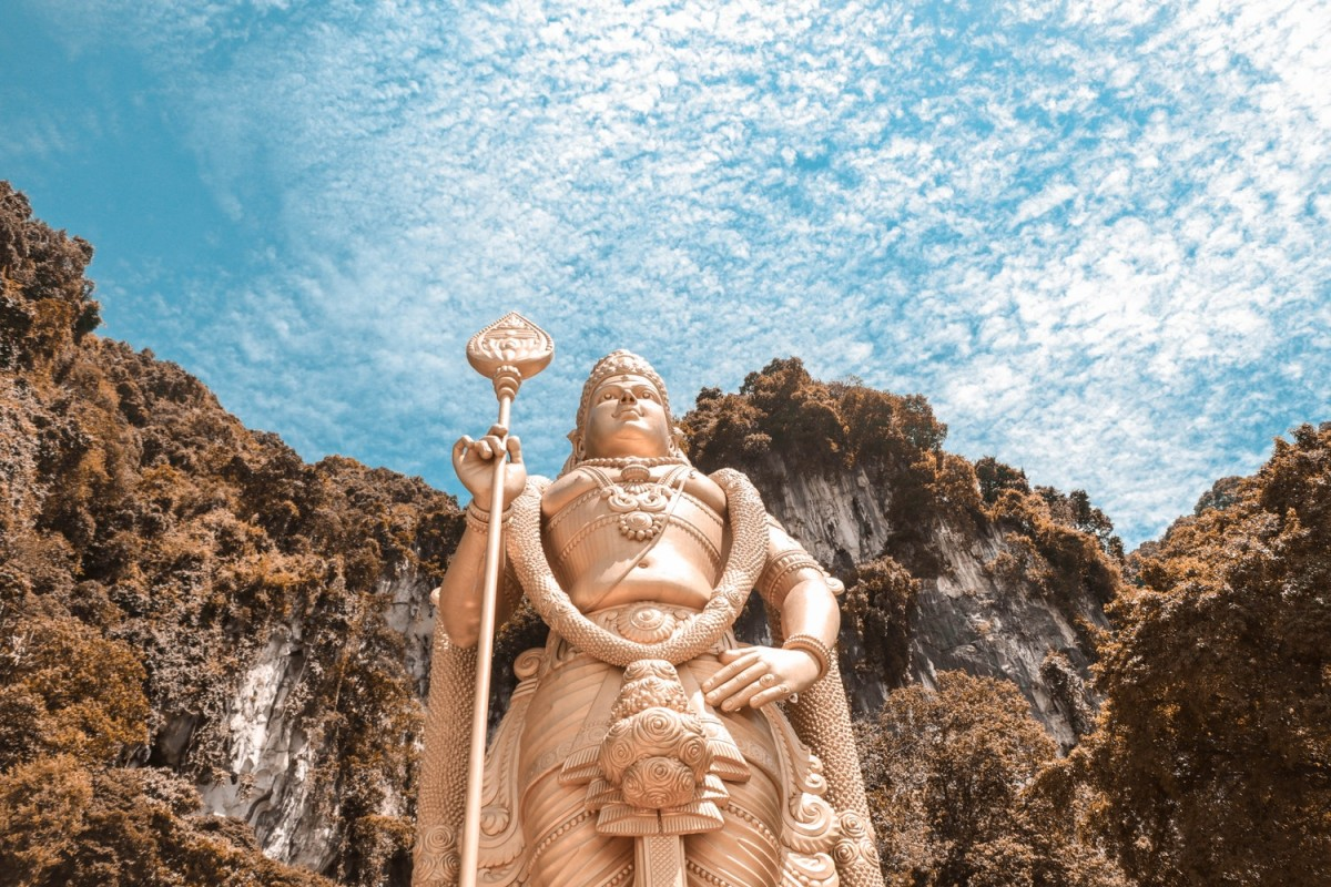 Shiva at the front of the Batu Caves - a perfect destination for any 3 day Kuala Lumpur itinerary