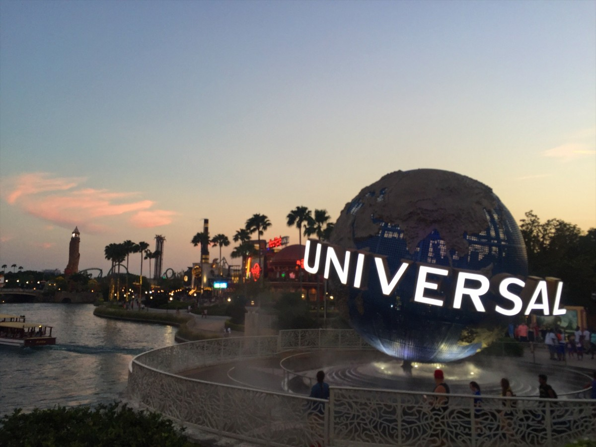 The universal ball at the main entrance to universal studios, Orlando, Florida