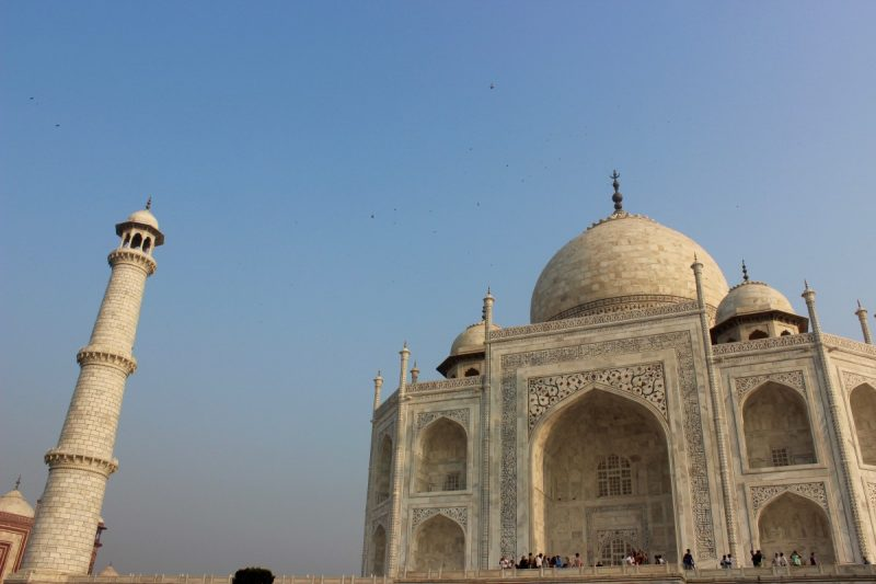 the main maouslem at the taj mahal in agra