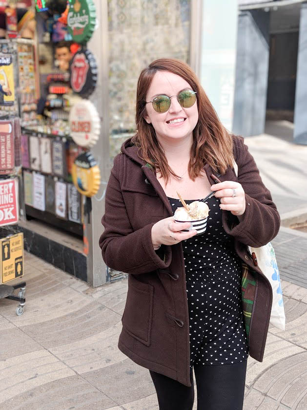 barcelona one day itinerary - la rambla ice cream