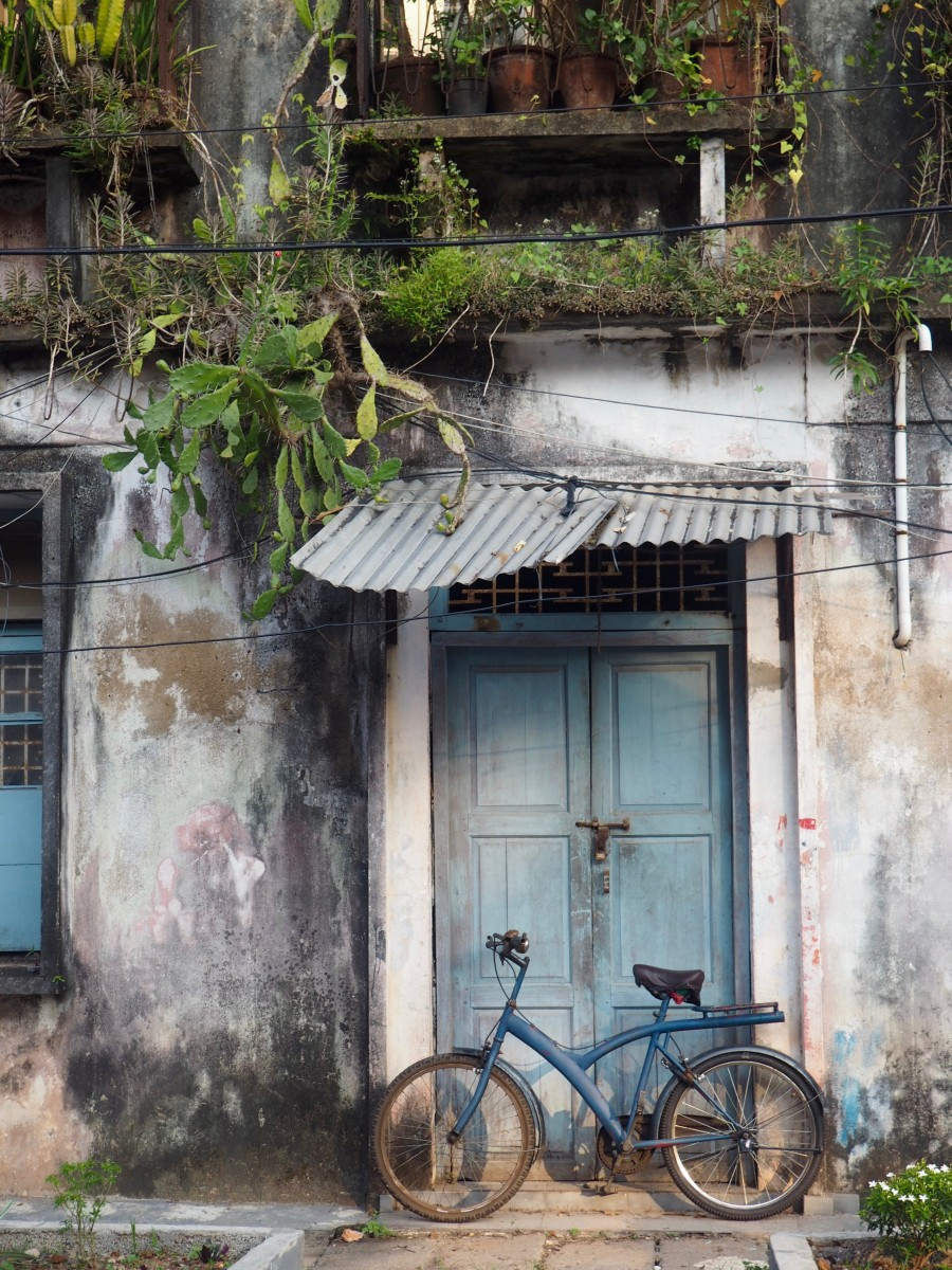 a house in the streets of fort kochi Kerala
