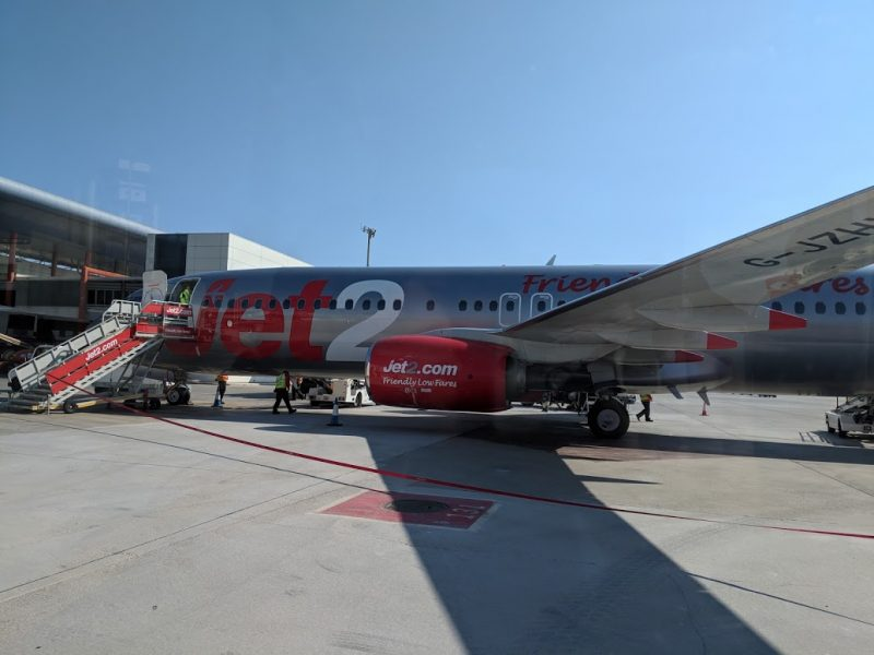 photo of a jet2 aeroplane