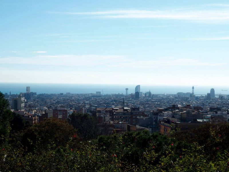 view of barcelona skyline