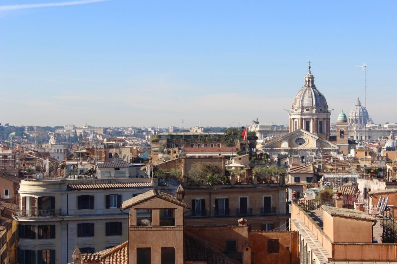 view of the vatican from the spanish steps