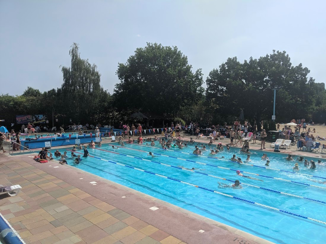 The Hampton pool is an outdoor pool or lido based just on the outskirts of london