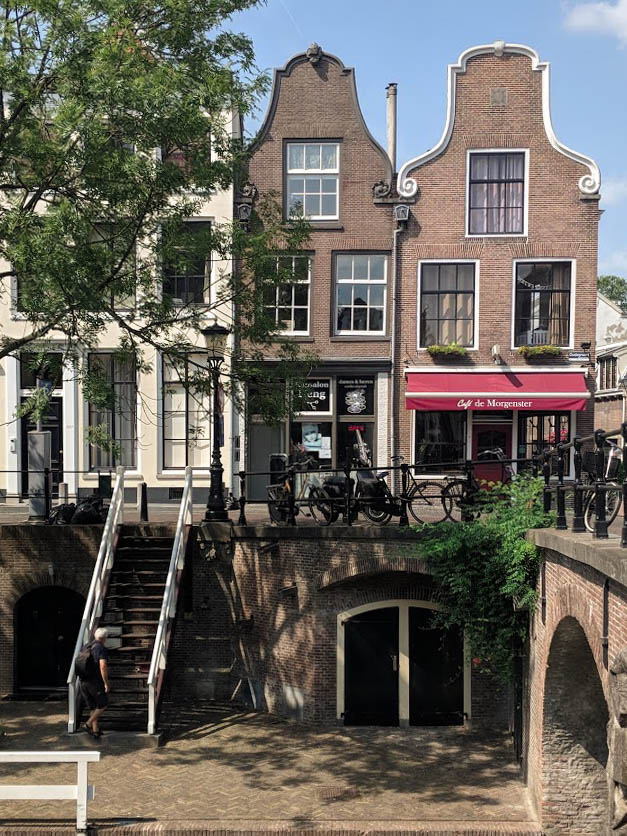 Traditional Dutch houses in Utrecht, Holland