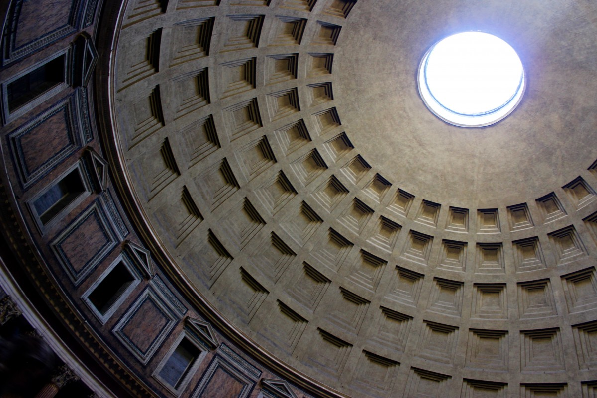 The pantheon roof in rome