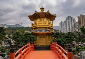 The Chi Lin Nunnery and Nan Lian Garden in Hong Kong