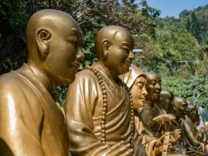 Ten Thousand Buddhas Monastery is nestled in the lush green Po Fook Hills, hong kong
