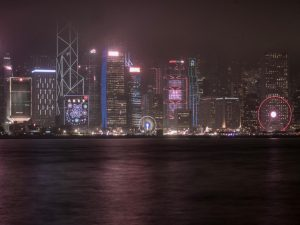 The victoria harbour in Hong Kong, where you can also watch the light show during your 3 day trip to hong kong
