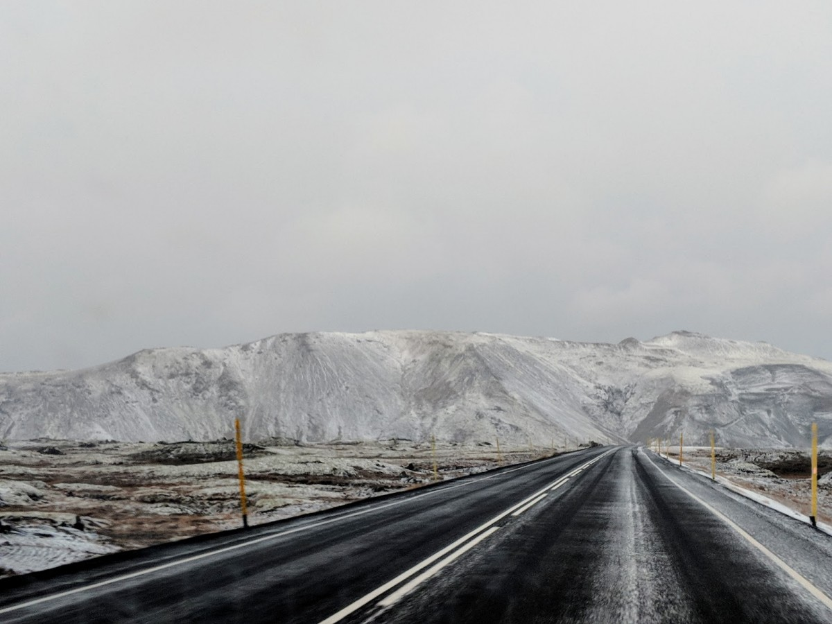 road in iceland during winter