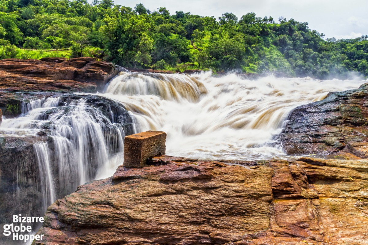 he Murchison Falls National Park's namesake falls in Uganda