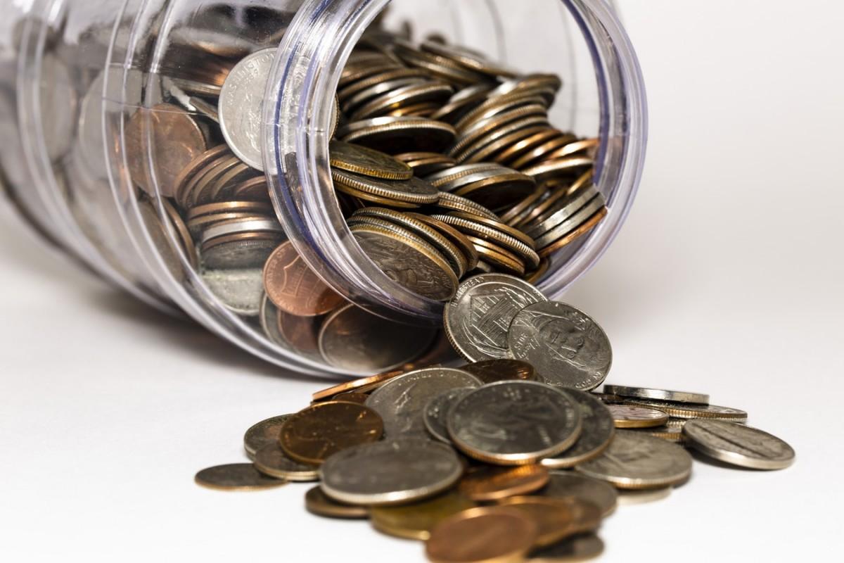 jar of spare change.