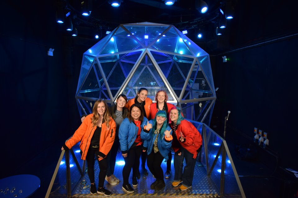 outside the crystal dome at the crystal maze live experience london