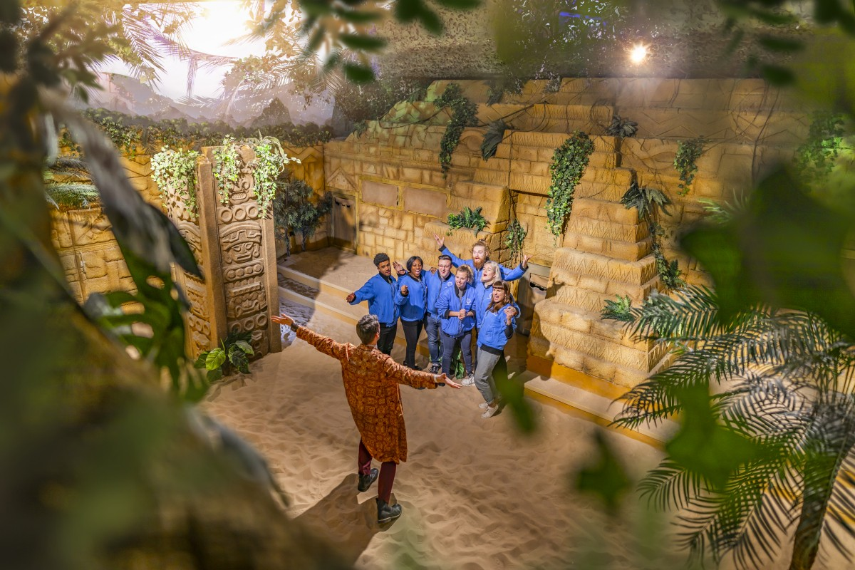 the aztec zone inside the crystal maze experience live london