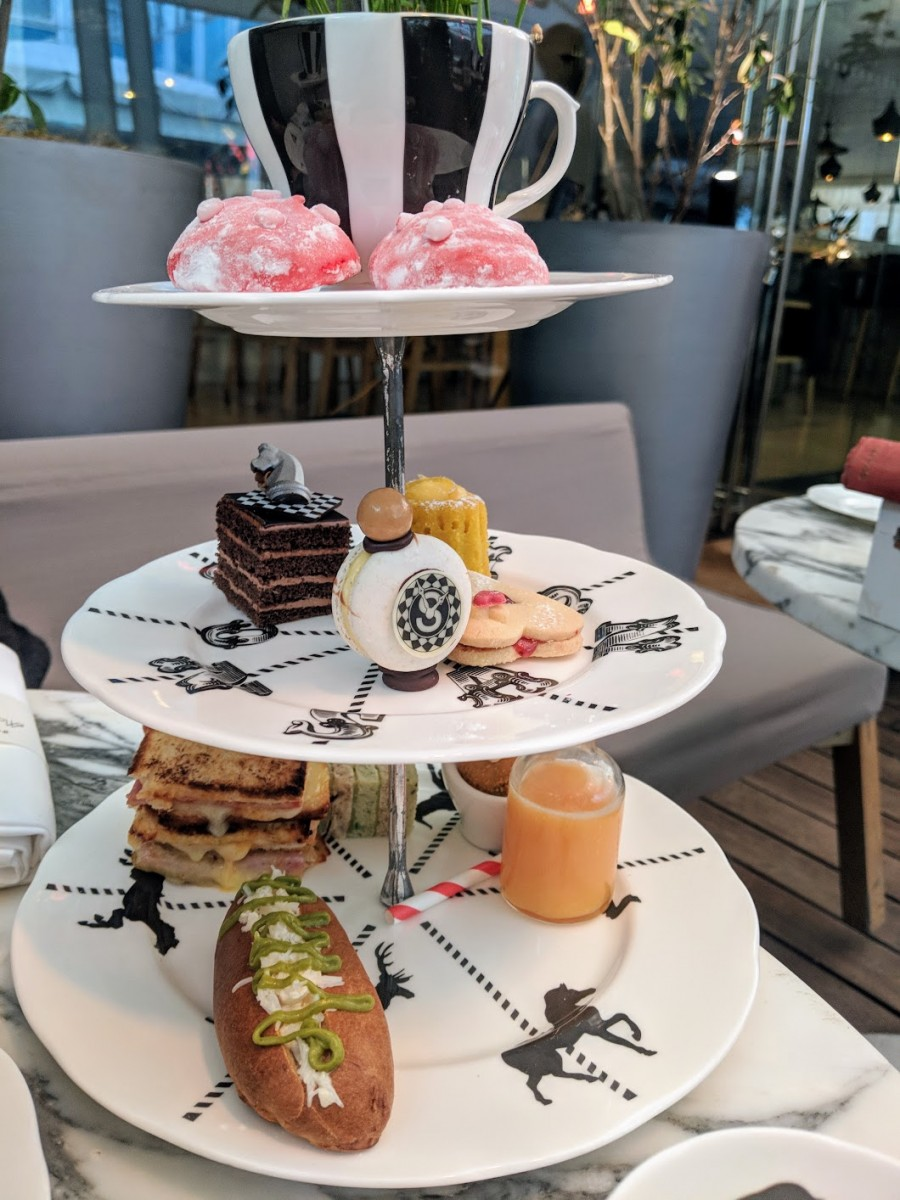alice in wonderland themed afternoon tea london