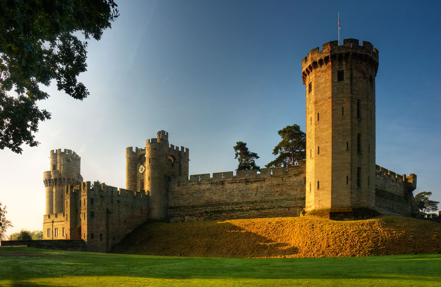 warwick castle, one of the many castles to visit near london, england