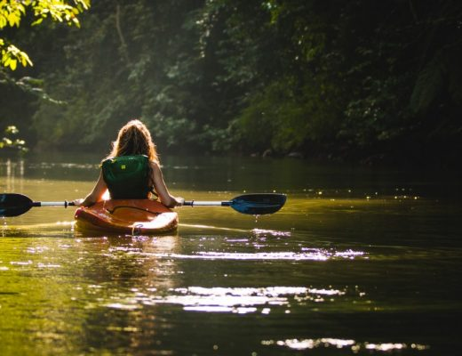 lady kayaking on wekiva island, one of the things to do in florida which is not a theme park
