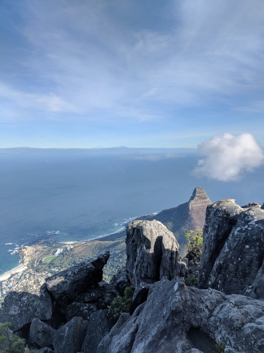 view from the top of table mountain, one of the best things to do when spending 3 days in cape town