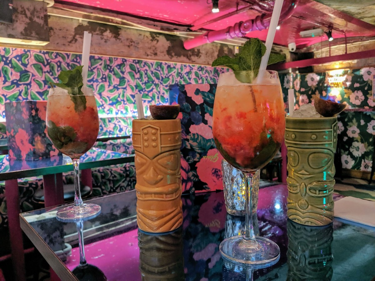 Blame Gloria cocktails at a cocktail bar in covent garden