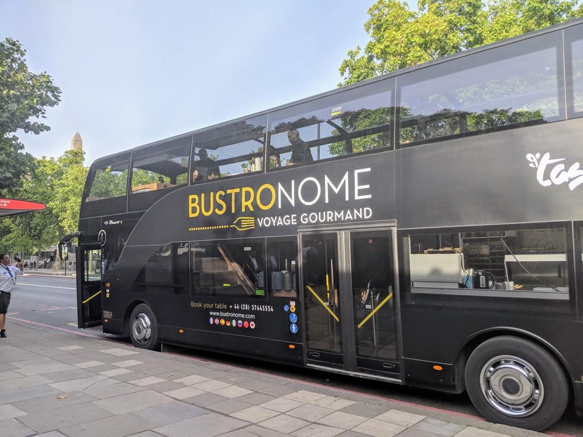 bustronome bus in london, offering a unique london food tour