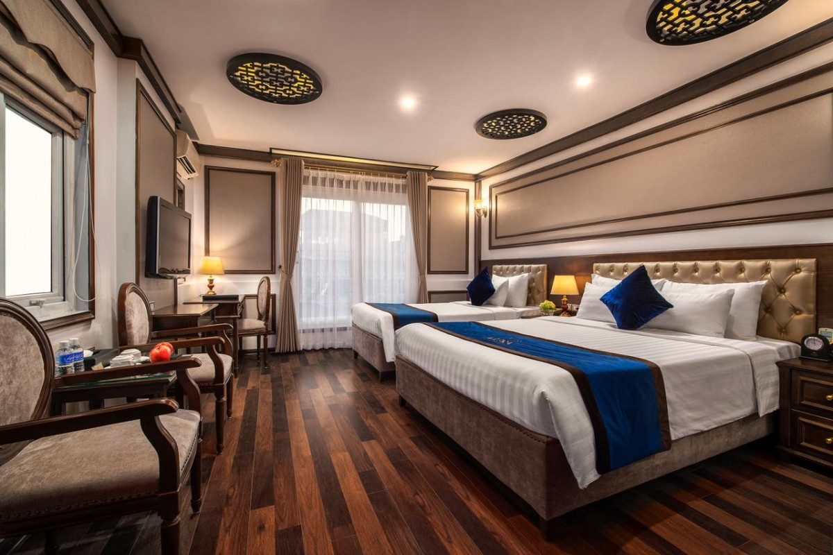 a hotel room at the alisa hotel and spa, one of the best places to stay in hanoi
