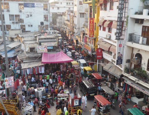 the busy markets of old delhi, a stop on the golden triangle india itinerary
