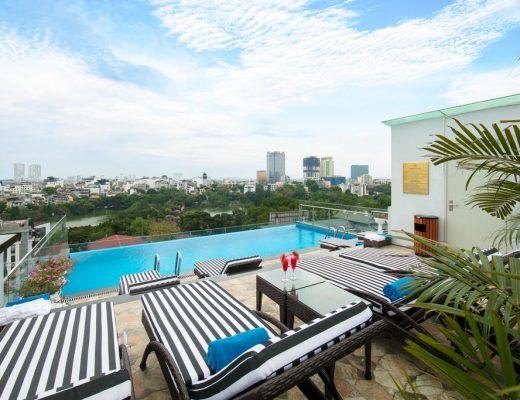 roof top pool hotel in hanoi
