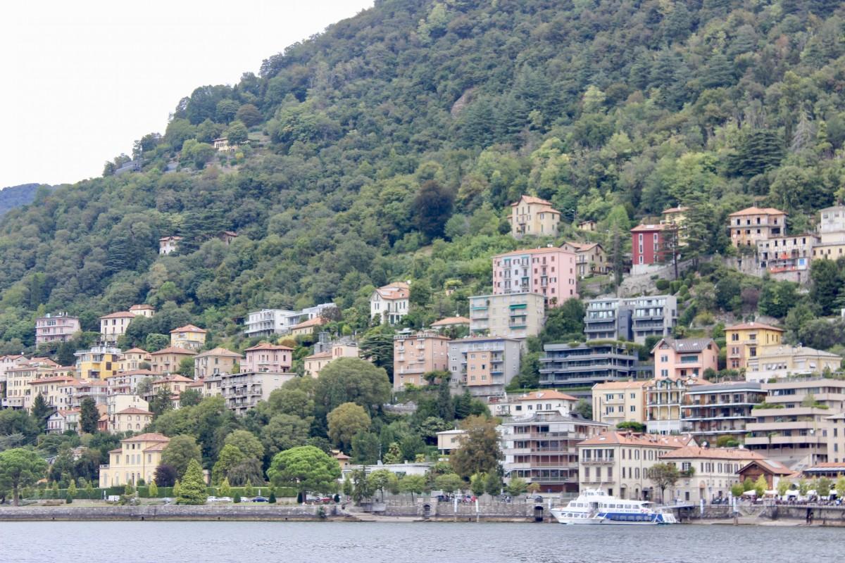 The Town of Como in Lake Como