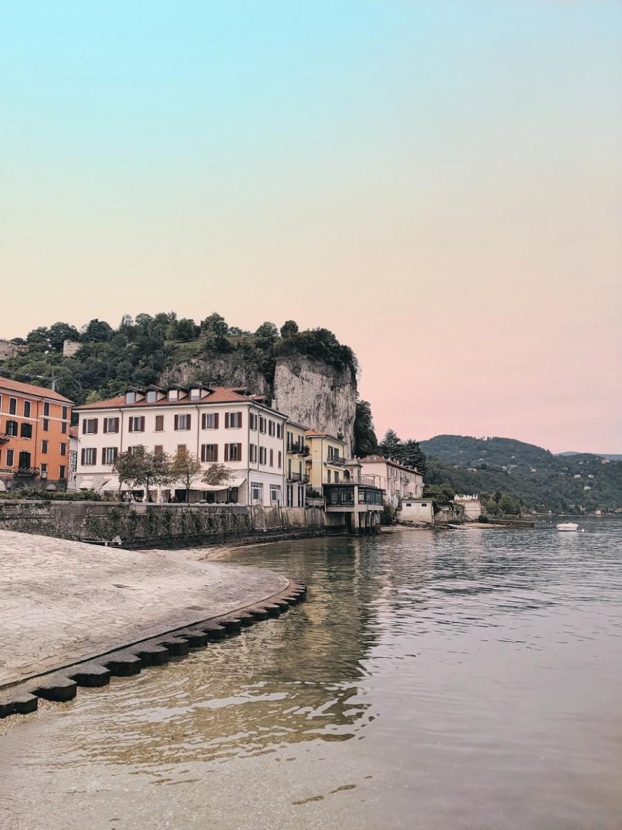 arona a town in lake maggiore