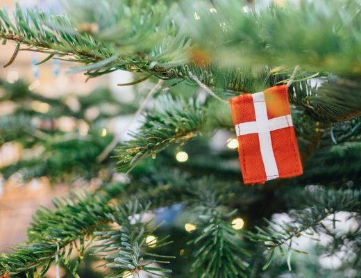 danish flag on a christmas tree
