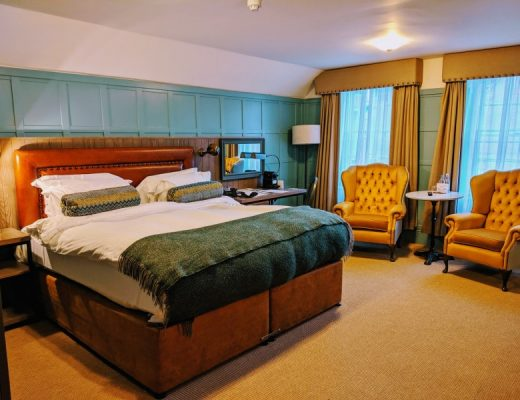 decadent room at the white horse hotel dorking