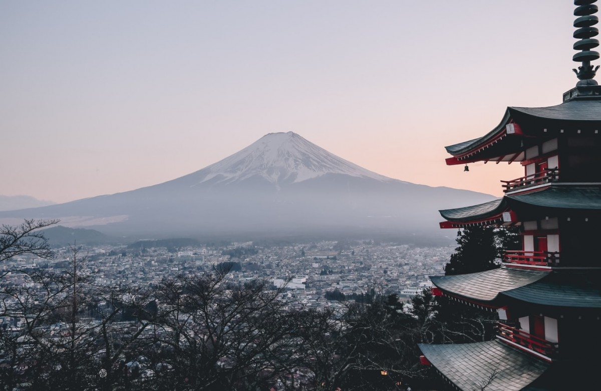 view of mount fuji, an interesting fact about Japan is mount fuji is the highest point