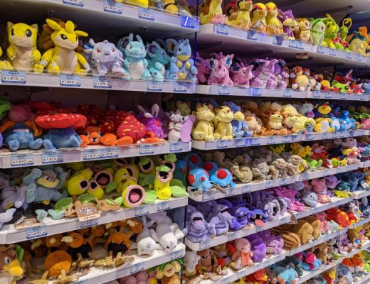 exclusive plush toys at the pokemon shop japan