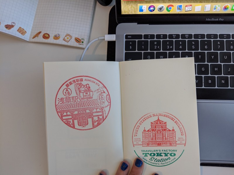 free stamps from train and metro stations in japan