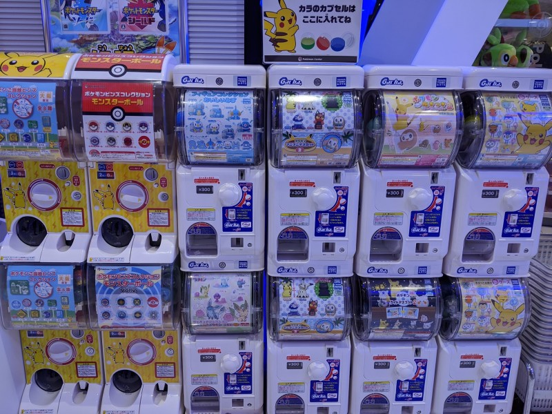 pokemon gashapon machines