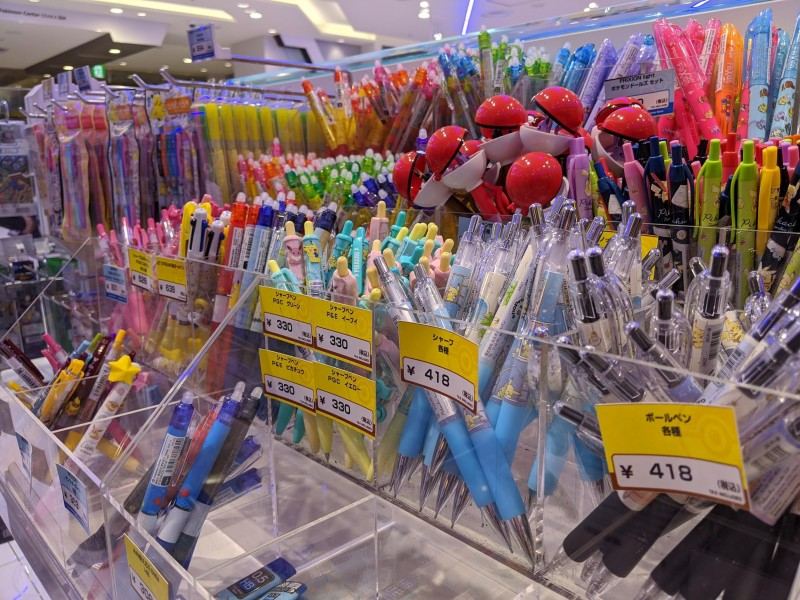 pokemon pens at the osaka store