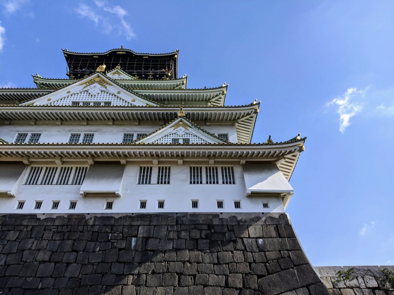 the osaka castle, a must see when spending one day in osaka