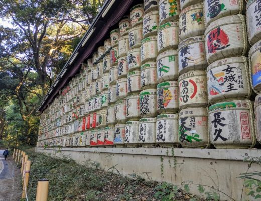 sake barrels in tokyo