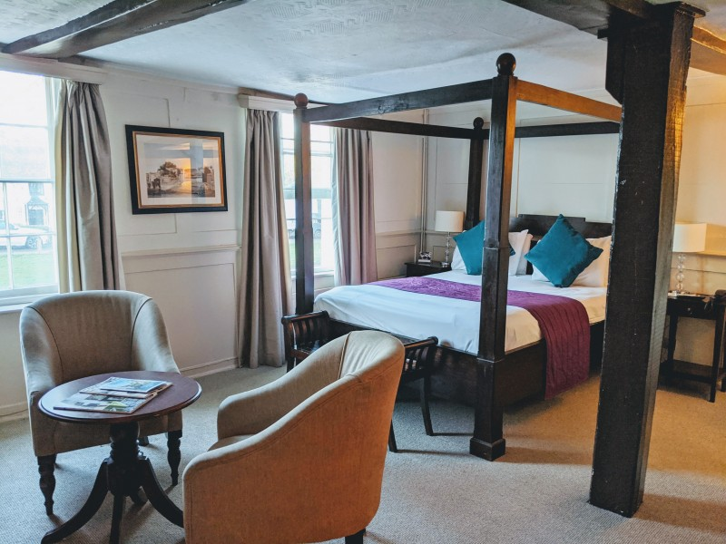 hotel room at the tablot surrey