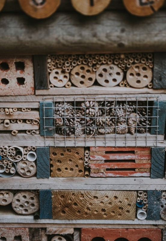 bug hotel for attracting wildlife to garden