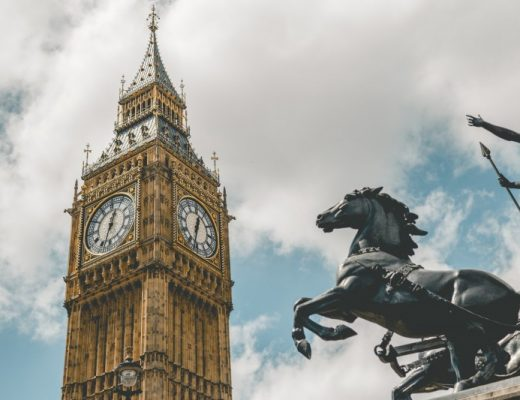 big ben with horse statue