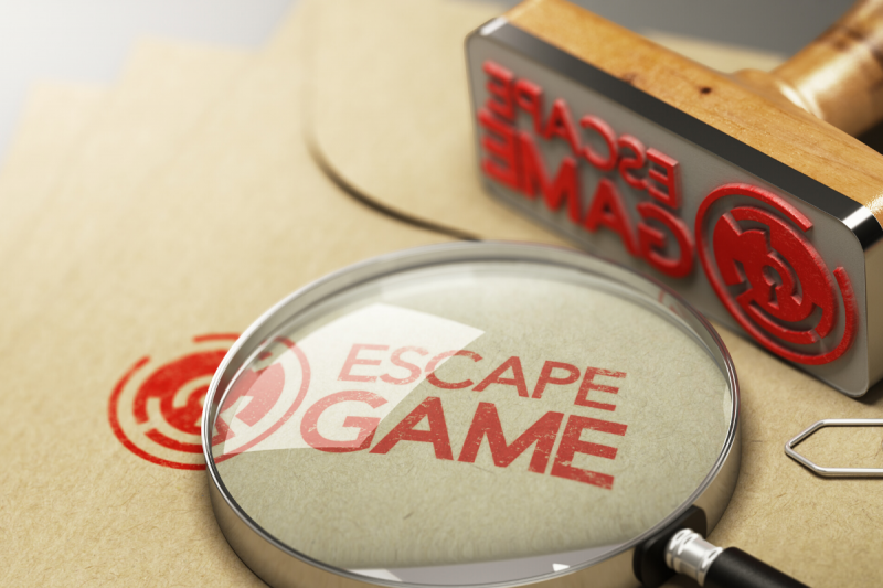 escape room sign stamper in surrey
