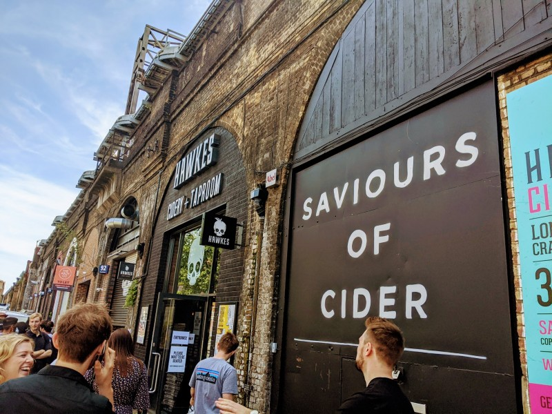 hawkes cidery on the london beer mile