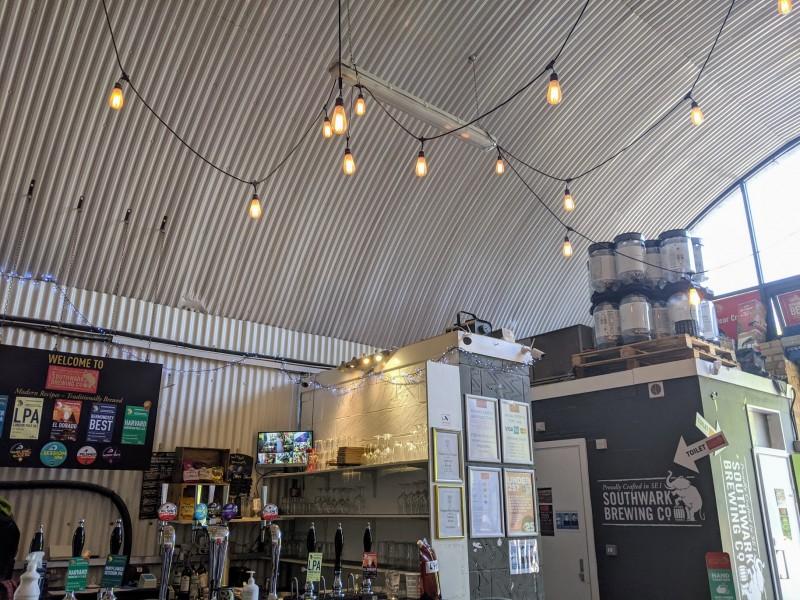 inside the southwark brewing company, london bridge